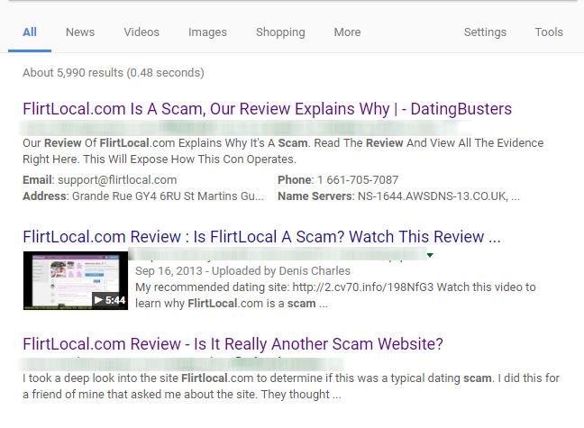flirtlocal scam reviews